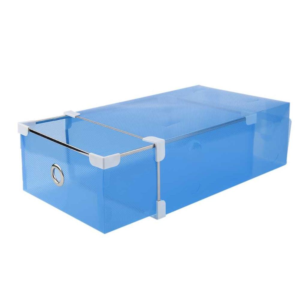 Half Transparent Plastic Drawer Shoe Box Case 2 Sizes for Both Men Women DIY Shoe Box Shoes Organizer 3 Colors