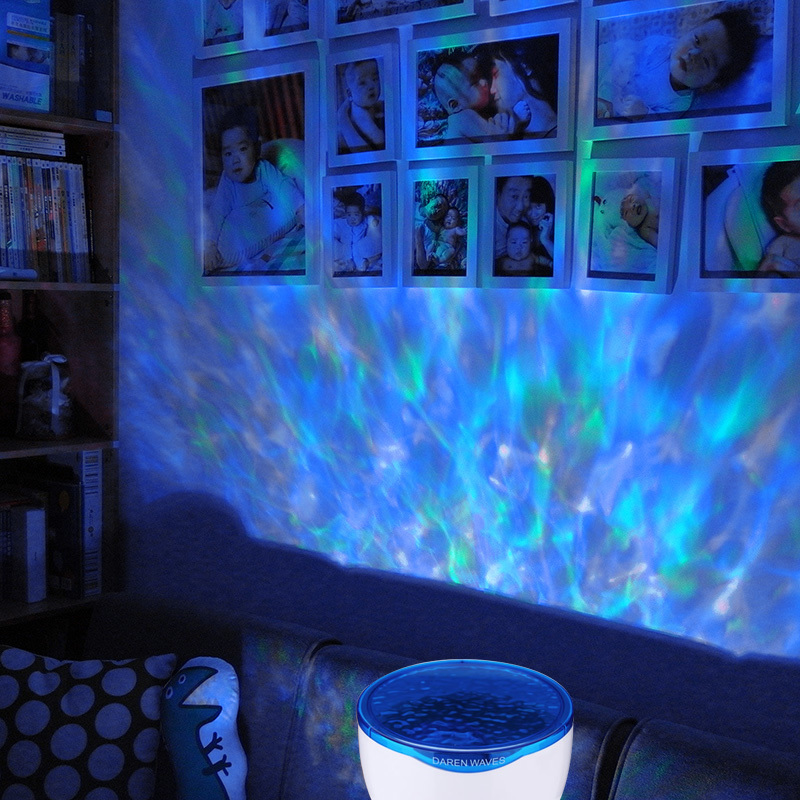 цена на LED Night Light Starry Sky Ocean Wave Projector with Music MP3 Speaker Novelty Baby Lamp Night Lamp Romantic Gifit for Kids