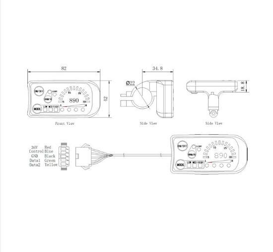KT-LED890 LED Meter for KT-Series Controlers