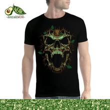 Thorn Skull Leaves Men T-shirt S-3XL New  T Shirts Funny Tops Tee Unisex High Quality Casual Printing 100% Cotton