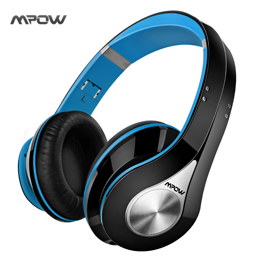 Mpow Bluetooth Wireless Headset Over-ear Stereo Foldable Headphone Ergonomic Design Earmuffs with Built-in Mic and Wired Mode generic chrome door handle bowl cover trim fit for honda accord mk9 2013 2014