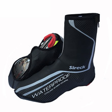 Sireck Pro Cycling Shoe Cover Waterproof Windproof Road Bike Bicycle Shoes Cover Winter Thermal Fleece Warm Cycling Overshoes