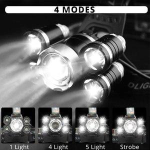Image 4 - 가장 밝은 헤드 램프 Led 헤드 라이트 XML 3/5 LED T6 헤드 램프 손전등 토치 헤드 라이트 사용 캠핑, 낚시에 가장 적합한 18650 배터리