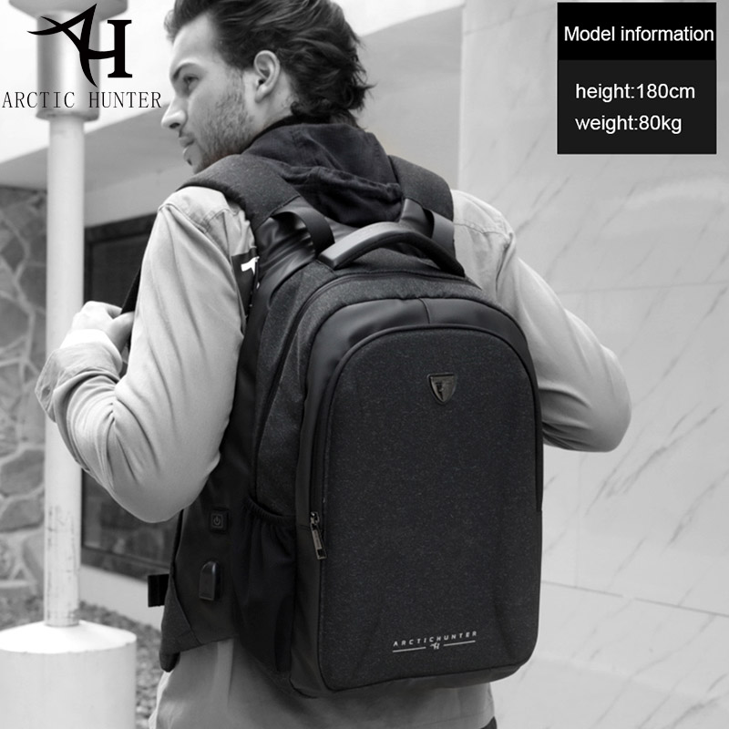 ARCTIC HUNTER Laptop Backpack Male USB Warm hand design Backpack for Men Travel Backpacks School Bags B00211