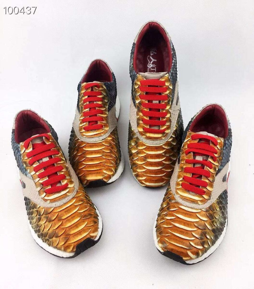 100% Genuine real genuine python skin fashion men shoe snake skin quality men shoe with cow skin lining red orange snake colors100% Genuine real genuine python skin fashion men shoe snake skin quality men shoe with cow skin lining red orange snake colors