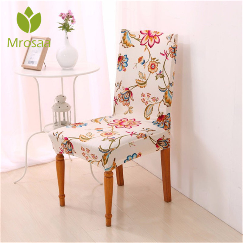Hot Floral Printing Stretch Chair Covers Elastic Seat ...
