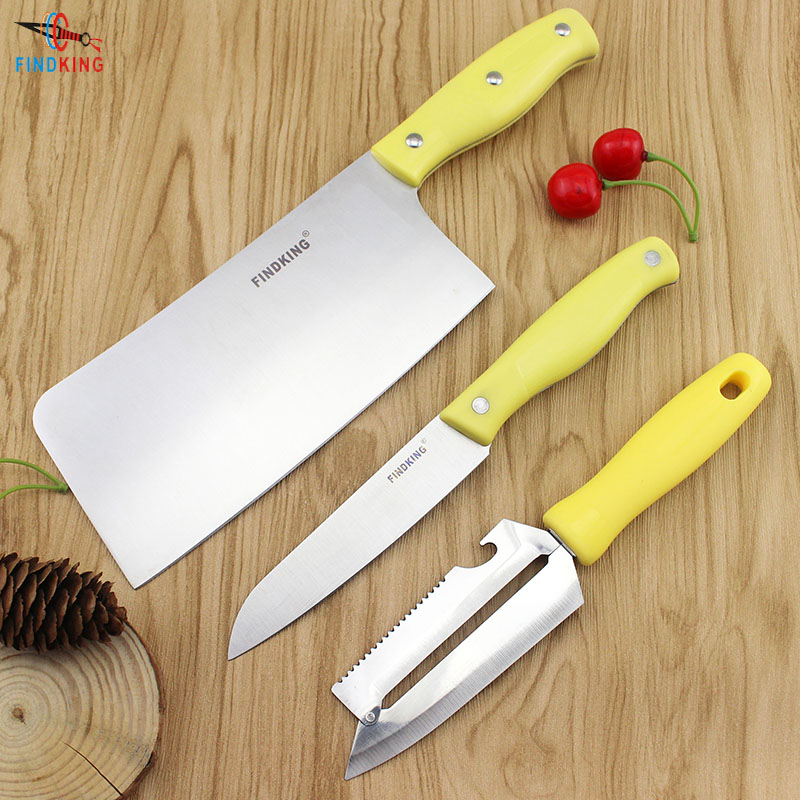 Findking 3 pcs in one set high quality stainless steel for Kitchen knife set quality