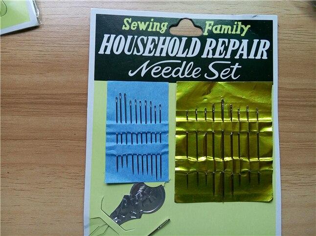 6 Packs/Lot Haushalts Reparatur Nadel Set Hand Sewing Familie, Einfädler. Teppich. Segel. Sack. polster. Gebogene Matterss Nadeln Set in 6 Packs/Lot ...