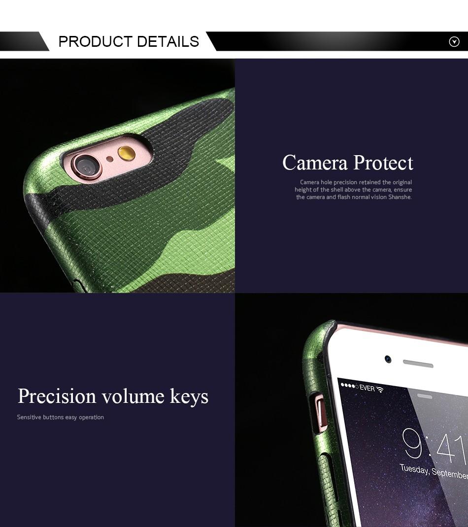 Dla iphone 7 5 5s se case wojskowy kamuflaż mężczyzn skórzane torby telefon sprawach dla iphone 7 7 plus pokrywa dla iphone 6 6s plus 5 5S se 6