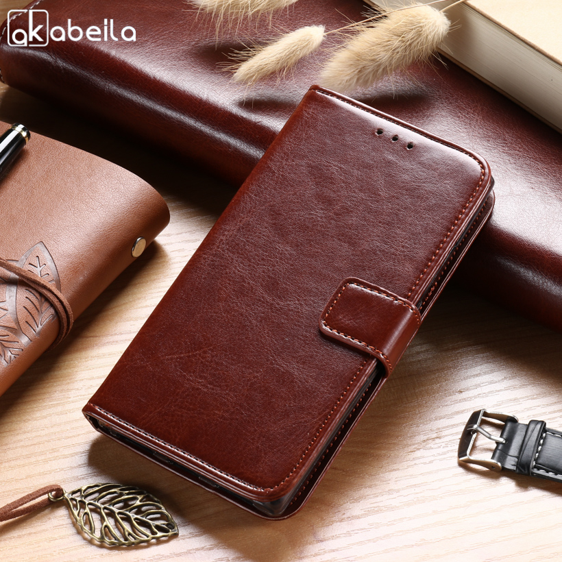AKABEILA Cases For Lenovo P70 P70A P70-A P70T P 70 5.0 inch Leather Wallet Phone Cover Case Business Holsters Card Holders Hoods