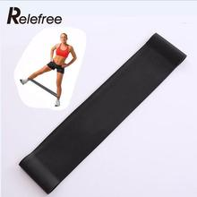 Unisex Black 1.1mm Tension Yoga Resistance Bands Loop Exercise Fitness Crossfit Strength training Leg Workout Equipment(China)