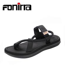 FONIRRA 2019 Flip Flops Summer Shoes Men Sandals Breathable Unisex Fashion Beach Shoes Black Plus Size 36-45 Sandals Men839