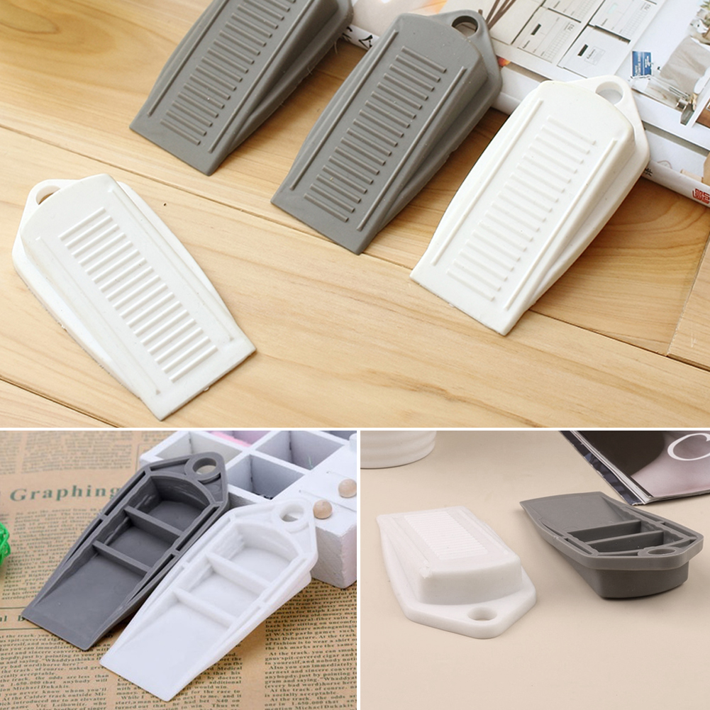 2pcs Rubber Wedge Door Stop Stopper Holder Guard Baby Safety Protector Kids Baby Door Stopper Wedge Security Door Card