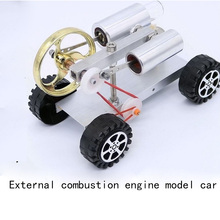 Engine model external combustion engine / micro generator car teaching