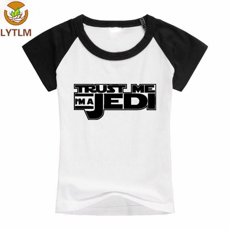 LYTLM Baby Girls Clothing 2018 Summer Top Star Wars Tshirt Boys JEDI Shirt Boys and Girls T Shirts Short Sleeve Girls T-shirts