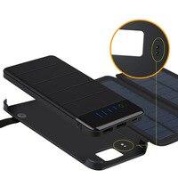 Folding Solar Panel Battery 10000mAh Solar Cells Phones Power Bank Charger universal Phones power bank Charger Outdoors External