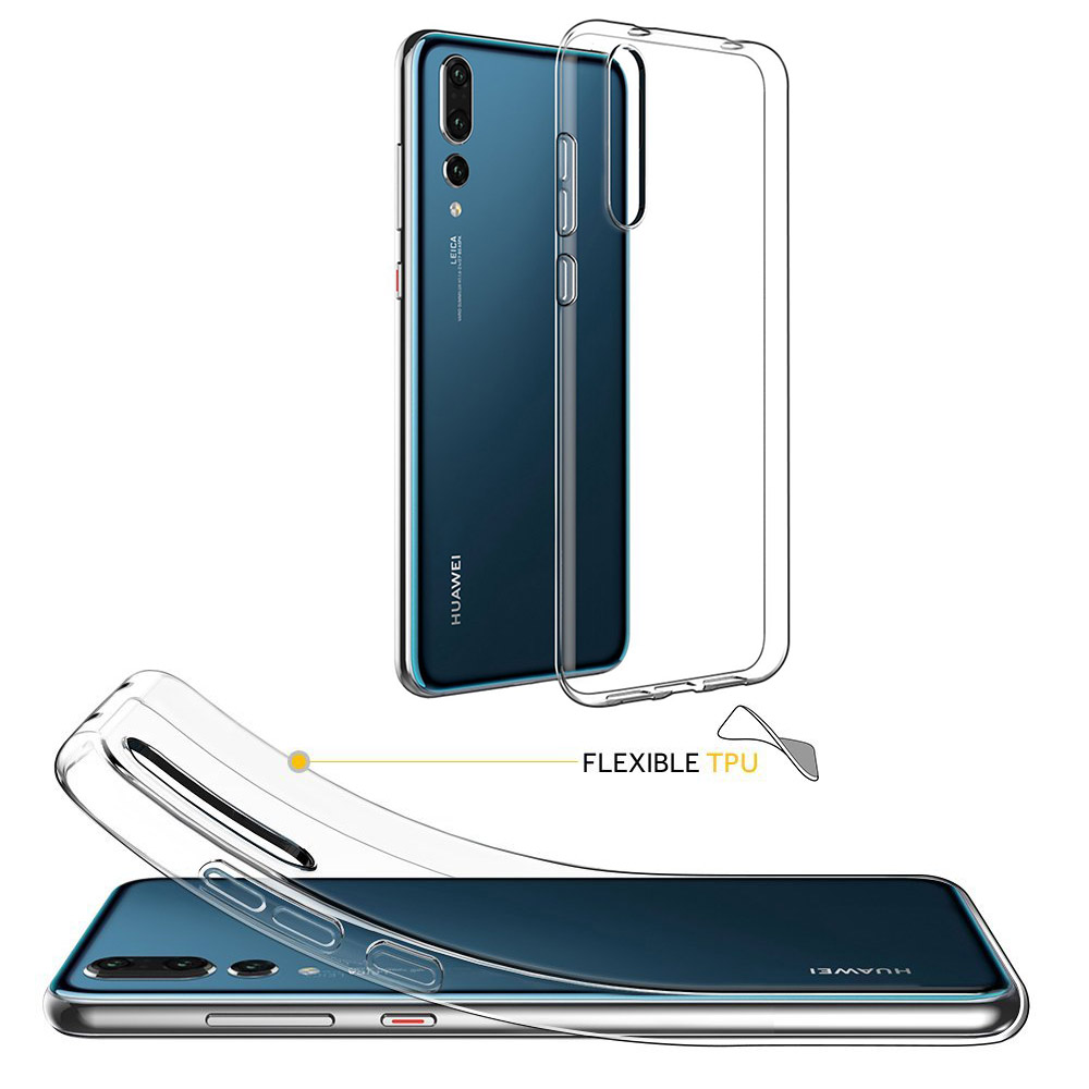 Ultra Thin Soft Silicon Clear Transparent Phone Case for Huawei P20 Lite Full Body Slim Phone Protect Funda for Mate 20 P20 Pro(China)