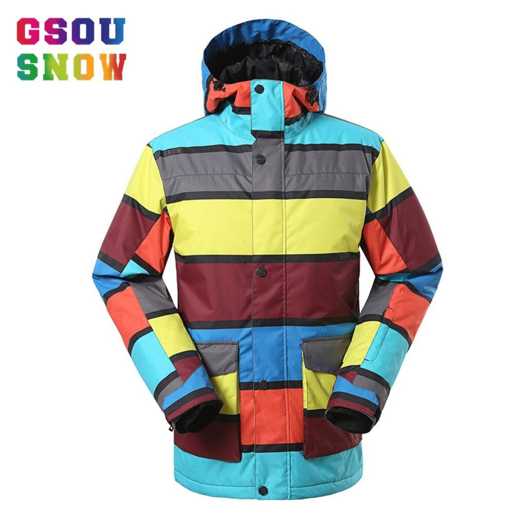 Prix pour 2016 Professionnel Ski Vestes Hommes D'hiver de Neige Manteaux Patchwork Coloré Snowboard Veste Chaleur Épaissir Imperméable Hommes de Vêtements de Ski
