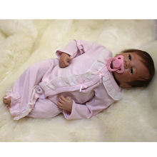 Rooted Mohair Girl Baby Dolls 20 Inch 50 cm Lifelike Reborn Newborn Babies Doll Silicone Toy With Cloth Body Kids Birthday Gift