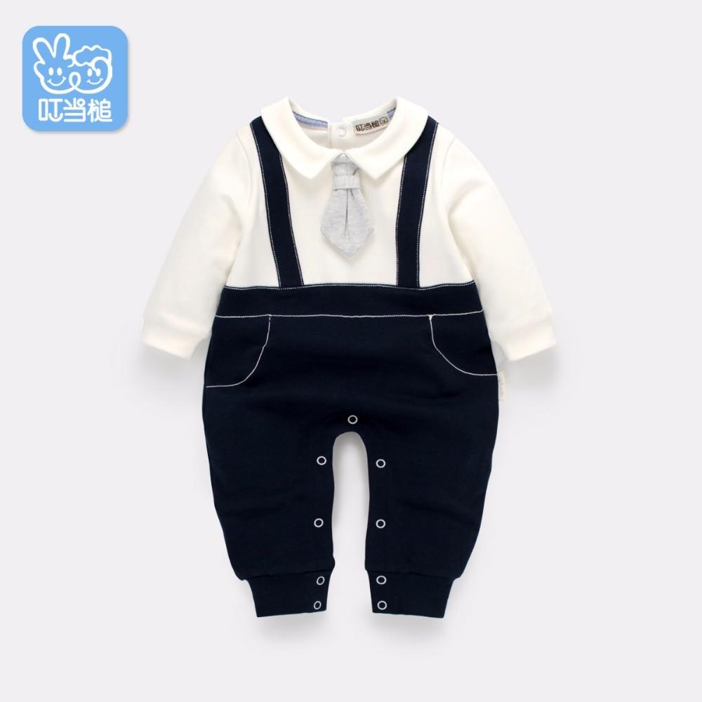 Dinstry recién nacido mamelucos ropa primavera guapo trajes de bebé - Ropa de bebé