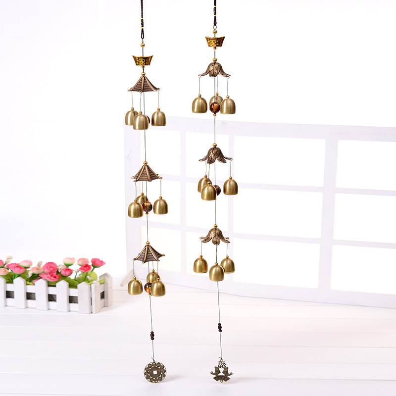 Large wind bells copper wind chimes bell outdoor for Large outdoor hanging ornaments
