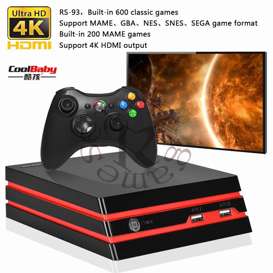 Coolbaby RS-34/RS-93 Sans Fil/wiredTVgame console Soutien HDMI interface vidéo jeu sans fil contrôleur intégré 600 rétro jeux