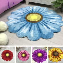 Высококачественный Цветочный Круглый ковер для гостиной, прикроватный коврик для спальни с солнечным цветком, домашний стул, салон, мягкий коврик для прихожей, коврики для ванной