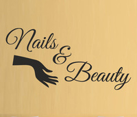 50cm Tall Nail And Beauty Salon Wall Stickers For Shop Home Decor