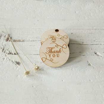 Personalised Engraved Wooden Thank You Wedding Tag Table Centerpieces Hole Mr&Mrs Surname Birthday Present Favor
