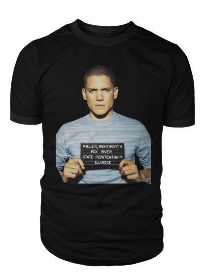 Prison Break T Shirt Michael Scofield Mug Shot Tshirt Mens Womens Unisex