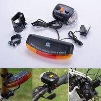 Mtb bicicleta sinal de volta freio led luz da bicicleta sinal volta direcional luz de freio lâmpada 8 chifre som acessórios da bicicleta