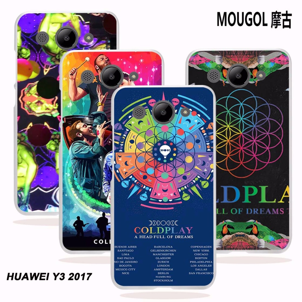 MOUGOL for Huawei Y3 2017 case Coldplay A Head Full of Dreams design transparent hard Phone case cover for Huawei Y3 2017