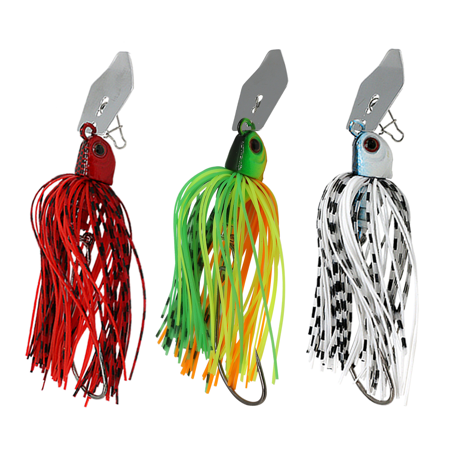 JonStar 2 Pcs/lot 16G Fishing Chatter Bait Spinner Spin Fishing Lure Buzzbait Chatterbait  For Bass Pike Walleye Fishing