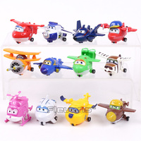 Super Wings Mini Airplane ABS Robot Toys Action Figures Super Wing Transformation Jet Cartoon Children Kids