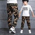 Calças de camuflagem moda boy 100-160 cm inverno quente cotton boy calças crianças moletom primavera outono esportes dos miúdos casuais pant