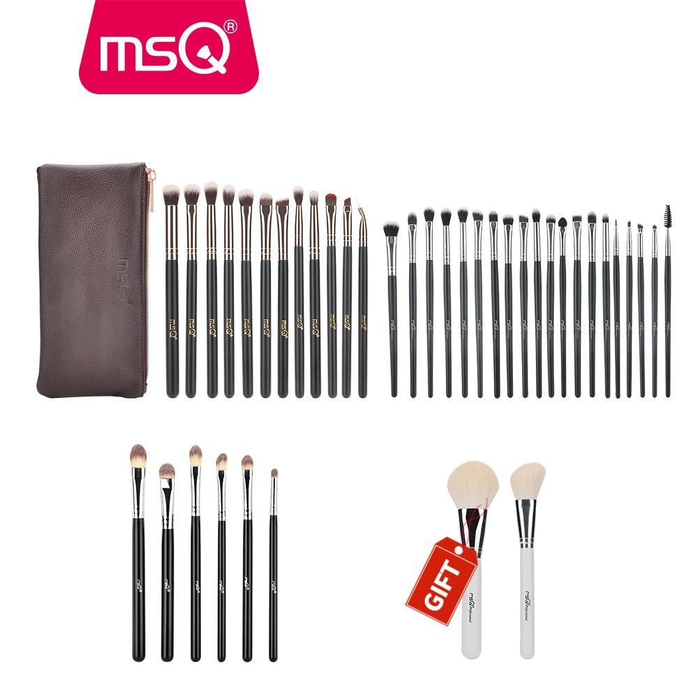 Buy 3 Get 1 Gift MSQ Professional 3sets Eye Makeup Brushes Rose Gold Eyeshadow Eyebrow Brush With 2pcs Powder Brush For Gift