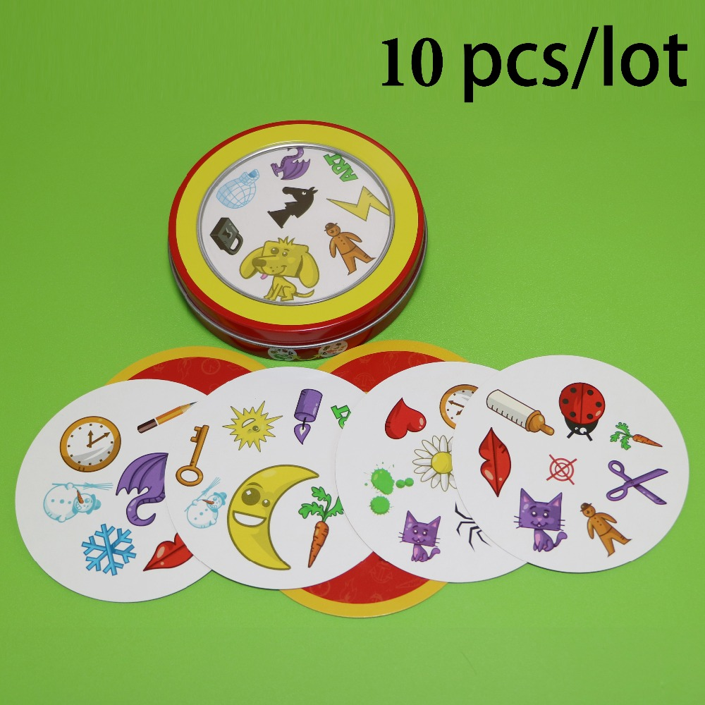 10 Pcs/lot Spot Kids Game For Wholesale High Quality Paper Red Back For Family Activities Party Enjoy It Cards Game