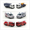 back to the power of mini cars The front is alloy material ambulance Fire engines Armored vehicles Children 's car toys