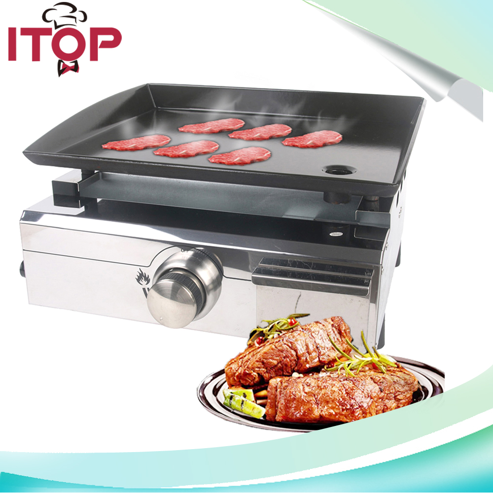 ITOP Plancha Grills 1 Burner Gas Griddle Outdoor Flat Top ...