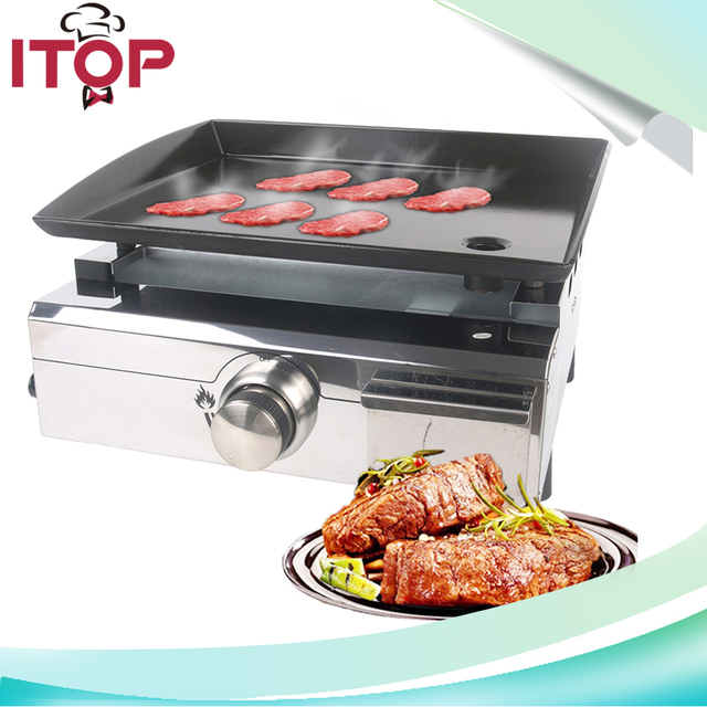 ITOP Plancha Grills 1 Burner Gas Griddle Outdoor Flat Top Grillin