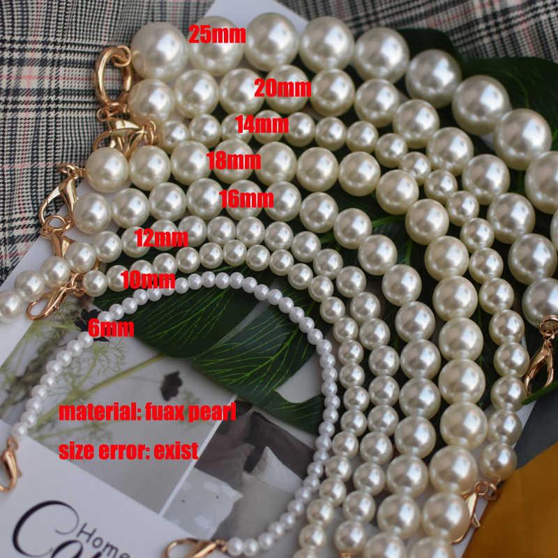 ใหม่ยี่ห้อ Pearl สำหรับกระเป๋าถืออุปกรณ์เสริมกระเป๋าเข็มขัด cute ลูกปัด chain tote ผู้หญิงอะไหล่ silver/gold /สีดำ clasp