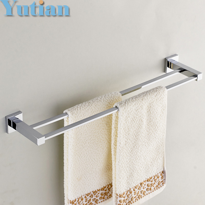 Free Shipping (24,60cm)double Towel Bar/Towel Holder,stainless steel Made,Chrome Finish, Bathroom hardware,Bathroom accessories free shipping contemporary chrome finish stainless steel single towel bar 7804