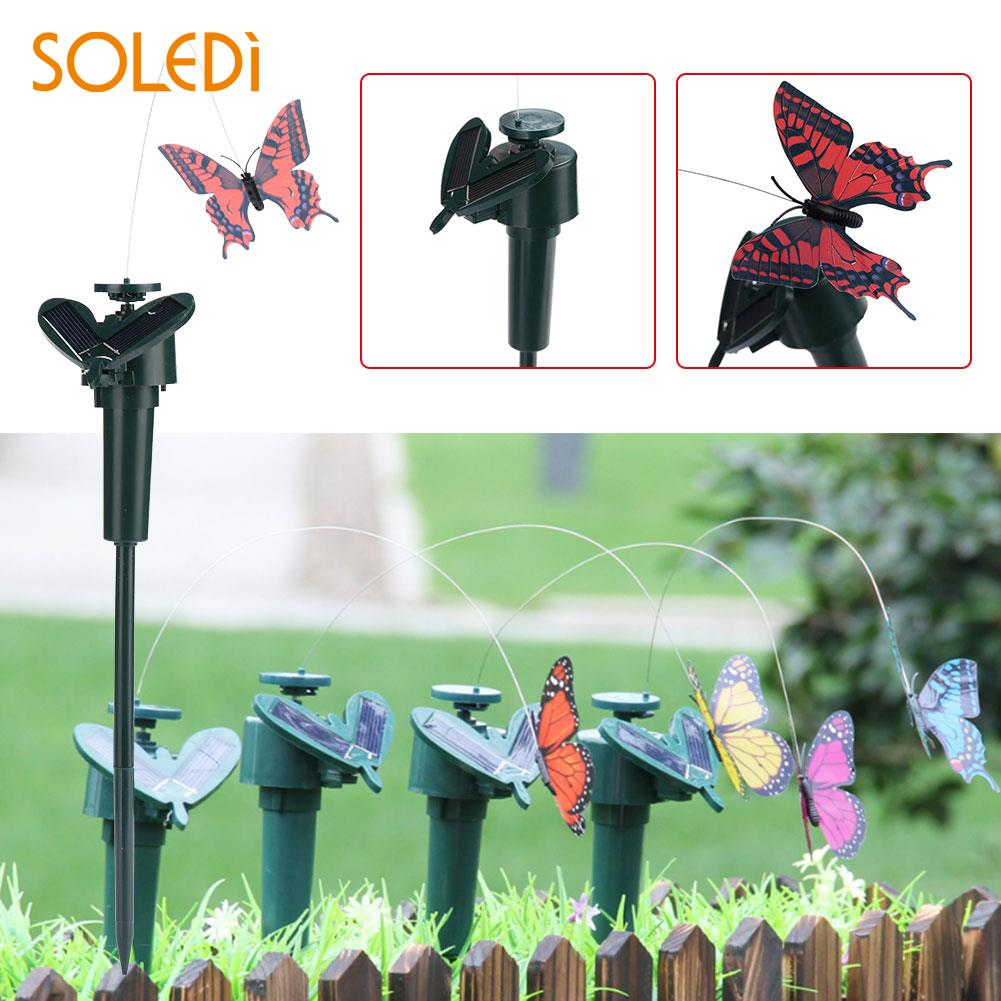 Butterfly Pretty Vivid Solar Powered Butterfly Solar Powered Lawn Decoration Lawn Flying