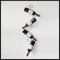Iron wine rack European wine bottle holder wine display bar bar living room wine cabinet wall hanging decorations