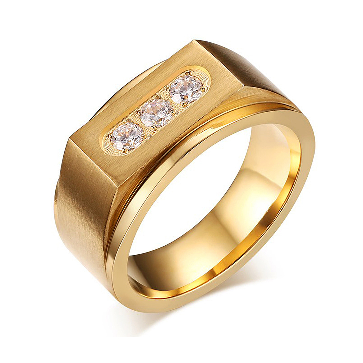 2017 New listing men ring golden Fashion personality anniwesary ...
