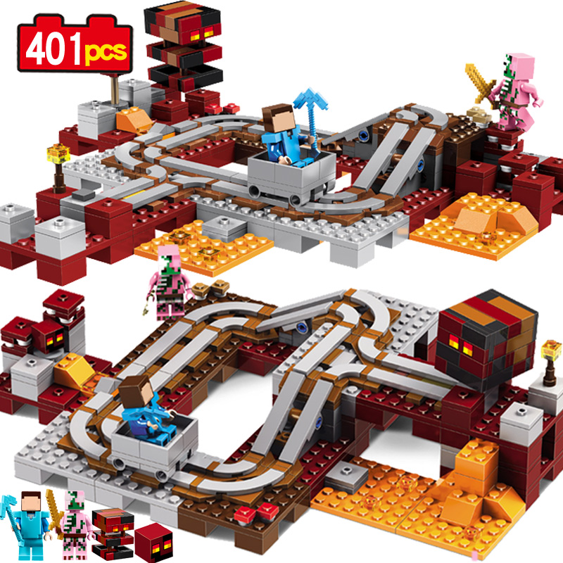 MY WORLD Hell infernal train Steve Zombie pig Compatible Legoe Figures Minecraft Building Block Bricks children toys gift 33054 5 bottles 500pills diabetes treatment radix rehmannia extract effects on central nervous system and cardiovascular function