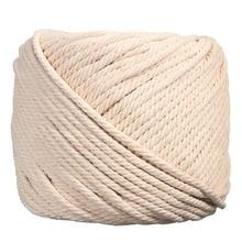 Шт. 1 шт. прочный 4 мм x 100 м натуральный бежевый белый макраме хлопок витой шнур веревка DIY Домашний текстиль интимные аксессуары Craft