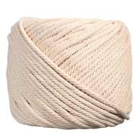 1PCS Durable 4mmx100m Natural Beige White Macrame Cotton Twisted Cord Rope DIY Home Textile Accessories Craft