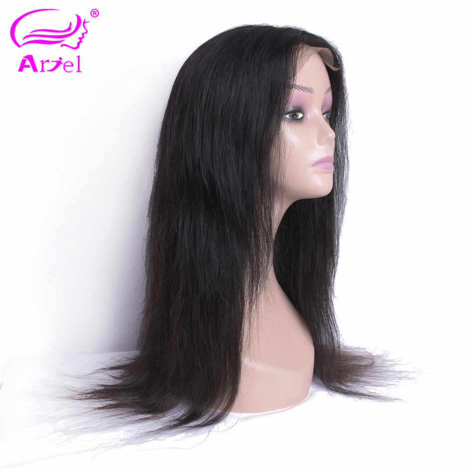 ARIEL Lace Front Human Hair Wigs Straight Brazilian Remy Hair 4*4 Lace Frontal Wigs Pre Plucked Hairline With Baby Hair 10-22''