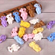 Маленький мини милый 6 цветов 3 см смешанный медведь плюшевая игрушка кукла; медведь плюшевая игрушка одежда, украшение для волос Плюшевые аксессуары для кукол игрушки